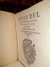 Bandi(Firenze)LEGGE dell' Illustriss. et Eccellentiss. S. il Duca di Fiorenza...