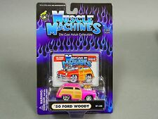 Muscle Machines 1950 FORD WOODY Pink Hot Rod 1/64 Diecast #ts4