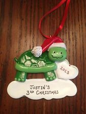 Personalized Turtle Boy / Girl Christmas Ornament
