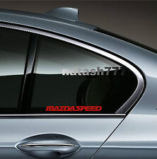 2 - MAZDASPEED 3 5 6 RX7 RX8 Mazda Racing Decal sticker emblem logo RED