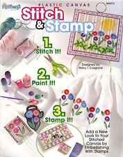 STITCH STAMP Embellish Plastic Canvas Patterns Book NEW