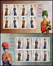 China 2003-15 Mini S/S Painted Statues Jinci Temple stamps