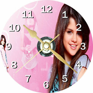 Selena Gomez Novelty Cd Clock Can be personalised