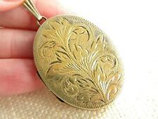 Vintage dated 1987 Sterling SILVER LOCKET ~ gold on silver ~ gift idea ~