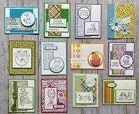 12 Easter Spring Holiday greeting cards envelopes Stampin' Up! +more