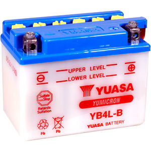 Batería YUASA YB4L-B | YB4LB | CB4LB | CB4L-B | 12V | Bateria | Moto | Scooter