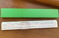SLIDE RULE VINTAGE 1977 SOVIET USSR DRAWING LINE RUSSIAN CASE INSTRUCTION RARE