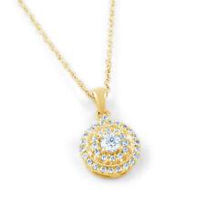 Collane e pendagli con diamanti naturale tonda in oro giallo