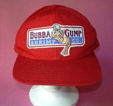 Bubba Gump Shrimp Co Red Baseball Hat Forrest Running Cap Adjustable