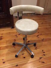 Genuine Murray Leather Dentist Chair Stool Fully Adjustable Retro Vintage Antiqu
