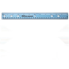 Office Depot Plastic Ruler, 12 in. BLUE BOX OF 36 UNITS