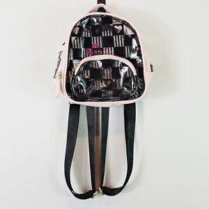 LUV BETSEY By BETSEY JOHNSON Womens Clear Checkered Mini Backpack / Bag