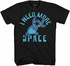 Lilo & Stitch Need Space Ohana Funny Adult Tee Graphic T-Shirt for Men Tshirt
