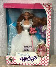 1990 Wedding Day Bride Midge doll NRFB friend of Barbie Ken Alan