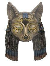 Egyptian Bastet Mask Sculpture Wall Plaque