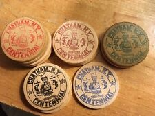 Chatham NY wooden nickel Centennial