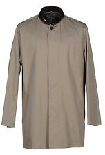 Nwt EMPORIO ARMANI 100% Cotton Men's  Beige Designer Trench Coat US 46  Euro 56