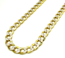 22'' 5mm 14k Yellow Gold Miami Cuban Curb Diamond cut Chain Necklace Mens 9.8g