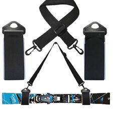 Cinghia porta sci neve cintura tracolla leggera portasci fondo alpino nera