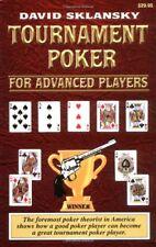 Tournament Poker for Advanced Players (Advance Player) By David Sklansky