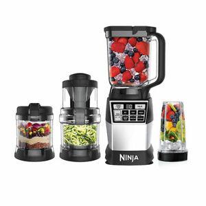 Ninja 4 In 1 Auto-iQ 1200W Blending Processing Spiral Kitchen System AMZ012BL U1