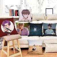 Home BTS Pillowcase Bangtan Boys Pillow Case Sofa Car Bedroom Pillow Cover Waist