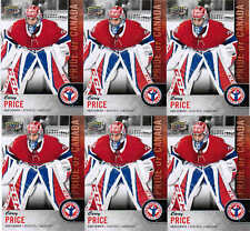 2018 UD NATIONAL HOCKEY CARD DAY CAREY PRICE CAN-7 PRIDE OF CANADA LOT (6)
