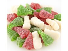 Christmas Sugar Sanded Gummi Trees and Snowmen Candy 2 pounds