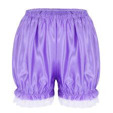 Womens Cute Lace Shiny Lolita Cosplay Pumpkin Bloomers Safety Shorts Short Pants