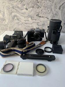 Olympus OM30 + 50mm f1.8 Lens - Good Condition + lenses, bag