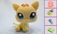 LITTLEST PET SHOP Lemon Yellow KITTEN Baby Kitty CAT #1779+1 FREE Access Authen