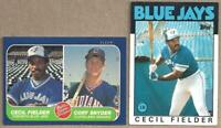 1986 Topps & Fleer CECIL FIELDER Rookie Cards - 2 Card Lot