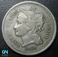 1869 3 Cent Nickel Piece  --  MAKE US AN OFFER!  #R8314