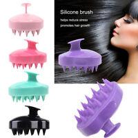 UK Silicone Scalp Shampoo Massage Brush Washing Shower Head Hair Comb
