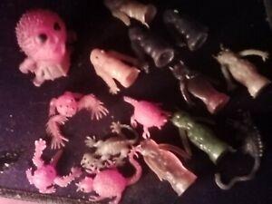 1960's 15 Vintage Rubber Finger Puppet Jiggler Uglies Monsters Toy Gumball