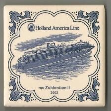 Holland America Line Blue Delft Tile ..Vista Class Ships..  ms Zuiderdam II 2002