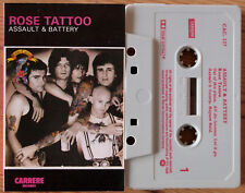 ROSE TATTOO - ASSAULT & BATTERY (CARRERE CAC127) UK CASSETTE HARD ROCK ANGRY
