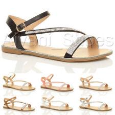 Sandali e scarpe slim con cinturino per il mare da donna piatto ( meno di 1,3 cm )