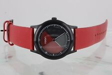 NOON COPENHAGEN RED 17-016-36 DIAL CHANGES COLORS AS TIME CHANGES WATCH 2319B
