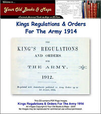 Kings Regulations & Orders For The British Army 1914 CDROM