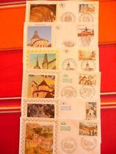 lot 2   fdc thème monuments religieux   années 2000   6 enveloppes
