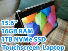 """New 2-in-1 HP Pavilion x360 15"""" Touchscreen Laptop i5 3.9GHz 16GB 2TB (SSD+HDD)"""