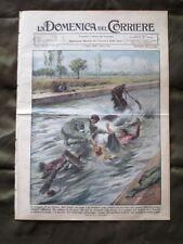 La Domenica del Corriere 7 Luglio 1935 Soldato eroe Treno merci Mussolini Grano