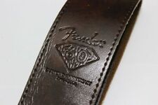 Fender 60 Anniversary Leather Guitar Strap and 9 FREE PICKS