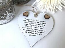 Friendship sign Best Friend Plaque Best Friend Gift Shabby Chic Heart Plaque S62