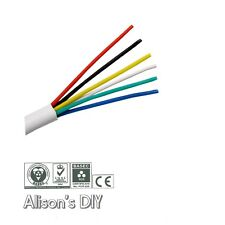 Alarm Cable 6 Core  White Intruder Burglar Secuirty Wire PVC Insulated