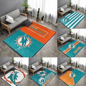 Miami Dolphins Rugs Anti-Skid Area Rug Fans Living Room Bedroom Floor Mat Carpet