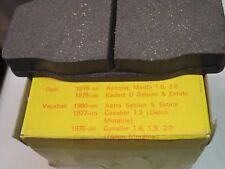 Vauxhall Cavalier, Astra / Opel Manta, Kadet. NOS,  FRONT BRAKE DISC PADS