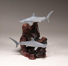 HAMMERHEAD SHARK Duo Sculpture New direct from JOHN PERRY 7in tall Airbrushed