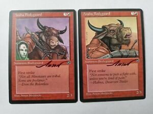 Anaba Bodyguard X2 Homelands Ed Signed by Anson Maddocks Magic the Gathering